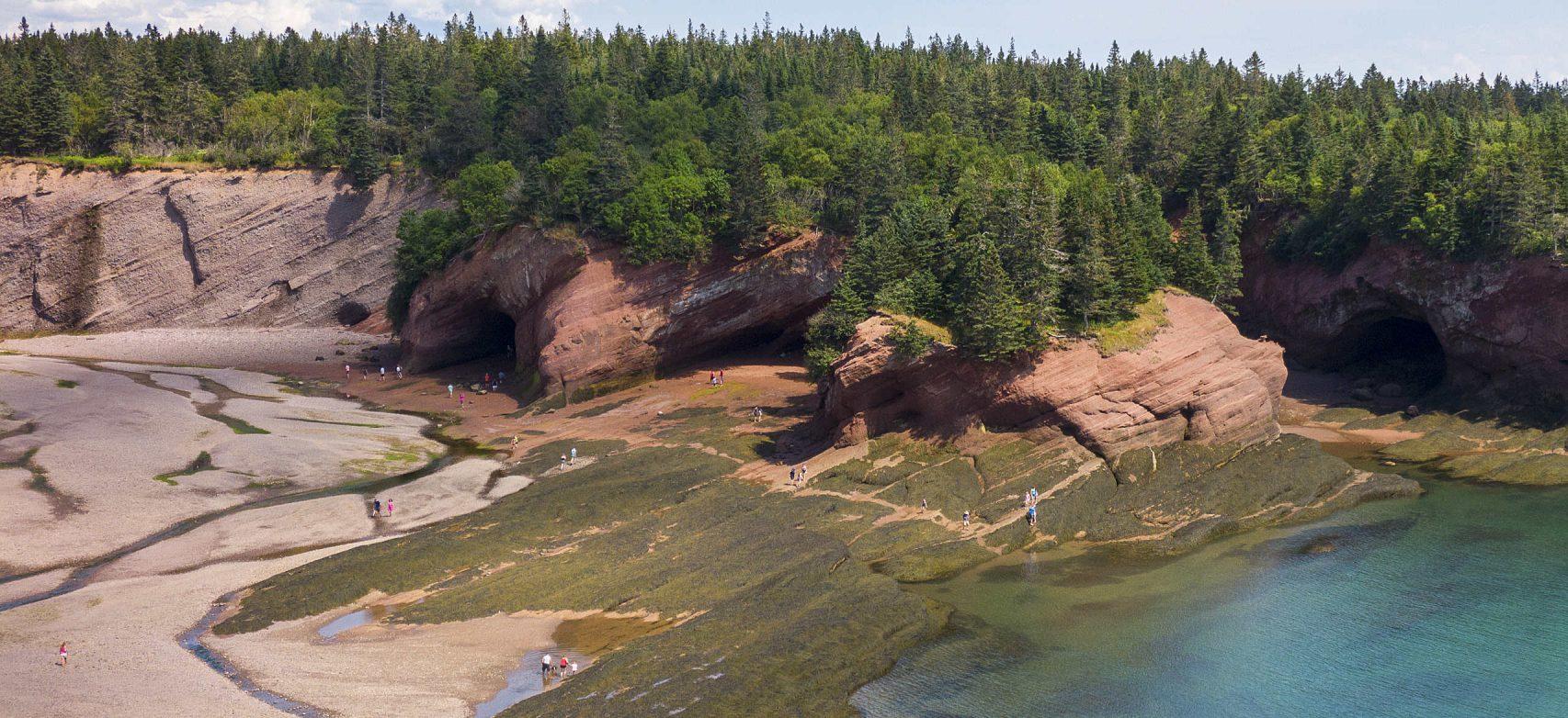 Grottes marines à St. Martins, Nouveau-Brunswick